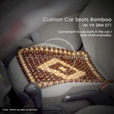 Autorace Alas Duduk Bambu Bulat/Sandaran Jok Mobil/Tikar Bambu/Alas Kursi Anti Panas Multifungsi Besar 41x41cm VR SBM-071 - Brown