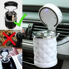 Autorace Asbak Rokok Mobil Portable/Car Ashtray Holder With Led LP/Smoking Trash With Sensor Light LP-012 – White