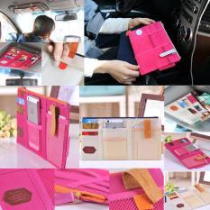 Autorace Car Sun Visor Pocket / Tempat Cd Mobil Serbaguna SWC 70-01 - Pink