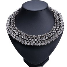 AZONE High Quality Fashion Charm Jewelry Crystal Bib Pendant Chain Choker Necklace