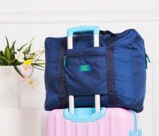 BEST Foldable Travel Bag/Hand Carry Tas Lipat / Koper Luggage Organizer - BIRU NAVY