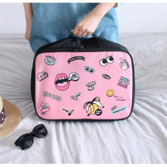 BEST LIP Travel Bag (Size M) Hand Carry Tas Lipat Koper Luggage Organizer Tenteng - PINK