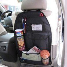 BEST Six Pocket Jok Belakang Mobil Organizer Car Back Seat Tempat Minum Dsb - HITAM
