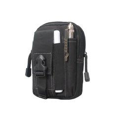 Best Tas Cowo Impor Waist Tactical Bag Waterproof Untuk Dompet/ Hp/ Rokok- Black