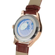 Bestdon BD7113G Men's Automatic Mechanical Tourbillon Moonphase Watch W / Luminous Pointer - Rose Gold + White + Brown (Intl)