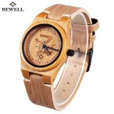 BEWELL ZS - W105CL Female Quartz Watch Leather Strap Wooden Wristwatch