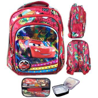 ... BGC 5 Dimensi Gambar Rubah2 Cars Lightning McQueen Tas Ransel Anak Sekolah TK 3 Kantung IMPORT