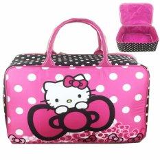 BGC Travel Bag Kanvas Hello Kitty Ribbon - Black Red