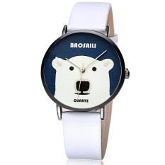 Big White Bear Design Animal Cartoon Watch For Girls Ladies Smiple Wrist Watch