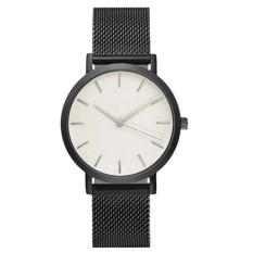 Bigskyie Classic Women's Men's Wrist Watch Steel Strap Quartz Casual Watches Black Free Shipping