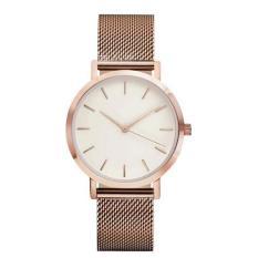 Bigskyie Classic Women's Men's Wrist Watch Steel Strap Quartz Casual Watches Rose Gold Free Shipping