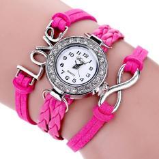 Bigskyie Duoya Femmes Mode Casual Bracelet En Cuir Montre-Bracelet Femmes Robe Hot Pink Free Shipping
