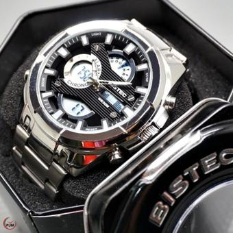 ... Rz Source · BISTEC Double Time Jam Tangan Pria Stainless Steel BISTEC 2688DS