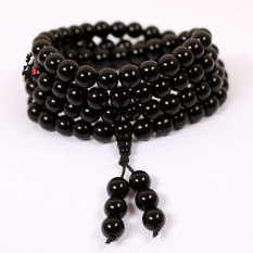 Black And Red Agate Bracelet 108 Male And Female Models Multi-national Wind Crystal Necklace Natural Beads Bracelets Couple - Red Agate Beads 6mm120