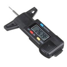 Black Precise LCD Display Digital Tread Depth Gauge Caliper Micrometer 0-25.4mm