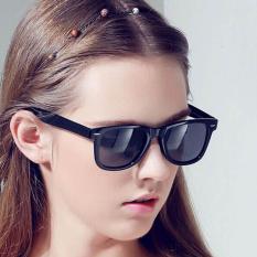 Blue lans Retro Aviator Sunglasses Square Lens - Kacamata Wanita - Hitam - RAS 7064 BLK