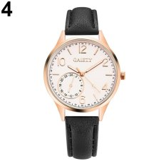 Bluelans® GAIETY Simple Lady Faux Leather Strap Band Wrist Watch Analog Quartz Party Watch Gift (Black) - intl