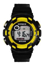 Bluelans Men's Waterproof Digital Multifunctional Alarm Mountaineer Wrist Watch Yellow
