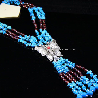 Bohemian gaya giok batu akik batu necklace angin nasional Necklace