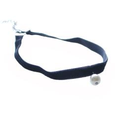 BolehDeals Black Velvet Gothic Vintage Collar Choker Pearl Pendant Necklace