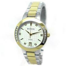 Bonia - Jam Tangan Wanita - Silver Komb Gold-Putih - Stainless Steel - BNR100-2117