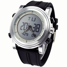 Brand SINOBI Two Hands Double Time Quartz Digital Watches Men Sports Watches Silicone Wrist LED Watch