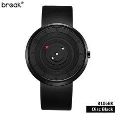 Break Unique Disc Black Style Creative Cool Brand Men Unisex Lovers Rubber Strap Quartz Fashion Casual Sports Watches