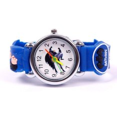 BUYINCOINS Cartoon 3D Bat Child Kid Woman Analog Quartz Wrist Watch Rubber Leather