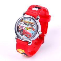 BUYINCOINS Cartoon 3D Cars Child Boys Kids Girls Analog Quartz Wrist Watch Rubber Gift - Intl