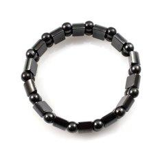 BUYINCOINS Fashion Black Magnetic Hematite Men Women Healthy Jewelry Bracelet