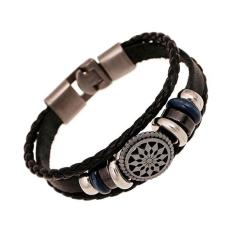 BUYINCOINS Fashion Women Leather Cute Infinity Charm Wrap Bracelet Jewelry Punk Style New (Intl)