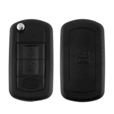 Car 3 Button 3BT Remote Key Shell Case Keypad Fob For LR3 Land Rover Black