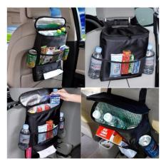 Car Back Seat Organiser Travel Multi Pocket Holder Pouch Storage Bag – Hitam