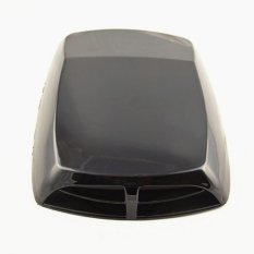 Car Styling Car Stickers Black Universal Car Decorative Air Flow Intake Scoop Turbo Bonnet Vent Cover Hood Decorate (Intl)