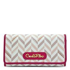 Carlo Rino Signature Print 2 fold continental wallet 0303268-501-24 (Pink)