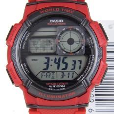 Casio AE-1000W-4AV 10TH Karet - Merah