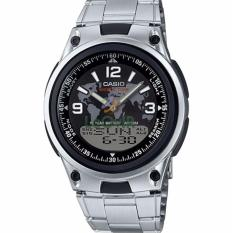 Casio Analog Digital AW-80D-1A2V - Jam Tangan Pria - Silver Black -