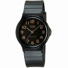 Casio Analog MQ-24-1B2 Unisex Watch - Black/Gold
