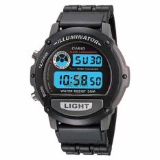Casio Digital w87h-1v - Jam Tangan Pria - Strap Resin - Black - LM