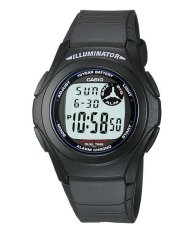 Casio Digital Watch F-200W - 1ADF - Unisex Watch - Karet - Hitam