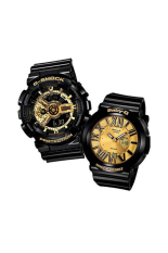 Casio G-Shock & Baby-G Men's Women's GA-110GB-1A & BGA-160-1B Couple Resin Strap Watch Black