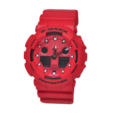 Casio G-Shock Men's Red Resin Strap Watch GA-100C-4ADR