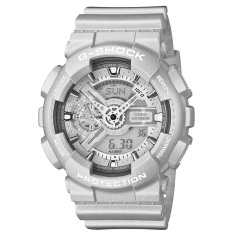 Casio G-Shock Men's Silver Resin Strap Watch GA-110BC-8ADR