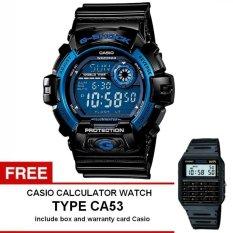 Casio G-Shock Watch Jam Tangan Pria - Hitam - Strap Karet - G-8900A-1DR + Free Casio Calculator Watch CA53
