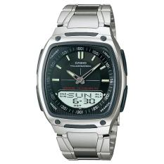 Casio Jam Tangan Aw81d-1a Pria Stainless Steel Band Analog Digital Formal Sporty Outdoor Layar Hitam