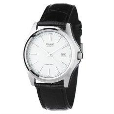 Casio Jam Tangan Wanita Analog - Silver- Kulit - LTP-1183E-7A