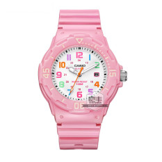 Casio LRW-200H-7E2 bentuk perempuan jam tangan siswa menonton