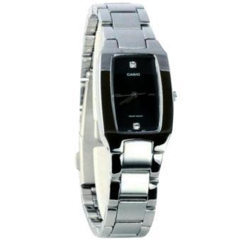 Casio LTP-1165-7B Jam Tangan Wanita Stainless Steel Silver Hitam