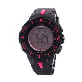 Casio Watch Pro Trek Tough Solar Black Resin Case Resin Strap Mens NWT + Warranty PRG-300-1A4