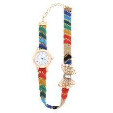 Casual Style Fabric Bracelet Wristwatch Women Fashion Luxury Watch NO.2 (Intl)